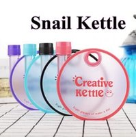 Wholesale Sport Bottles Cartoon - 4 Colors 350ml Creative Sports Outdoor Water Bottles Sealed Leakproof Cup Snail Cup Cartoon Kettle for Kids Gift CCA7730 30pcs