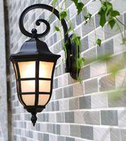 Wholesale Porch Style - E27 Superior European Style Waterproof Villa Garden Wall Light Spraying Smoothing Black Porch Lights Wall Lamp Outdoor Lighting LLFA