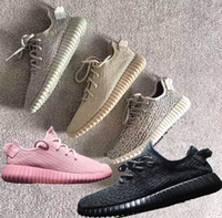 2017 vente chaude Oxford bronzage 350 boost Chaussures de course Classic Bas Kanye West Athletic Boots Ankle ut Chaussures Chaussures de sport chaussures 36 ~ 48 grande taille