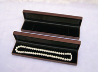Wholesale Necklace Presentation - Vintage Velvet Necklace Box for Jewelry Organizer Case Wedding Jewellery Presentation Storage Gift Casket