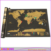 Wholesale 82 CM Scratch Map With Scratch Off Layer Visual Travel Journal World Map For Educatioin