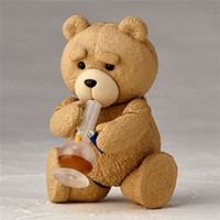 Wholesale Collectible Teddy Bears - Demishop Hot Anime FUNKO POP Movie Revo Series #006 Ted 2 Teddy Bear PVC Action Figure Collectible Model Toy 9cm