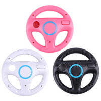 Wholesale Game Steering - 3 Color Plastic Innovative and ergonomlc design Game Racing Steering Wheel for Nintendo Wii Mario Kart Remote Controller