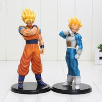 2 pcs / lot 18-20 cm Dragon Ball Z Figurines Son Goku Super Saiyan Végéta Dragonball Z PVC Figurines Jouets