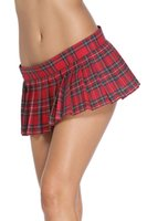 Wholesale Skirts For Clubbing - 2016 Summer Sexy Red Plaid Pleated Mini Skirt for women, Japanese Schoolgirl Uniform Short Mini Club Party Punk Skirt Plus Size XS-XL H72013