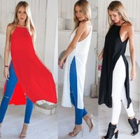 Wholesale Cheap Dress For Work - 2016 New Pattern Camisole Vent Sexy Maxi Beach Work Bodycon Casual Cheap Denim For Polyester Fiber (Di Split Dress Summer Woman Dresses