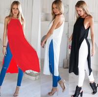 Wholesale Cheap Maxi Dresses For Women - 2016 New Pattern Camisole Vent Sexy Maxi Beach Work Bodycon Casual Cheap Denim For Polyester Fiber (Di Split Dress Summer Woman Dresses
