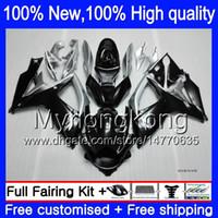 Wholesale k6 kit - Body For SUZUKI GSXR600 Black silver 06 07 GSXR750 06-07 3Y85 GSX R600 K6 R750 Black silvery GSXR 600 750 2006 2007 Bodywork Fairings kit