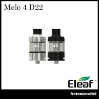 tanks passen eleaf großhandel-Authentische Eleaf Melo 4 D22 Zerstäuber 2ml Tank 0,3 Ohm / 0,5 Ohm EC2 Spulenkopf Fit iKuun I80 / I200 MOD E Cig Tank