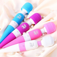 Wholesale Wireless Magic Wand - Magic Wand Libo Wireless Waterproof Multi Speed Vibrator Massager Full Body Neck 60pcs
