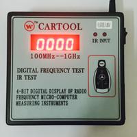 radios volvo al por mayor-Carcode 100MHz-1GHz CARTOOL Car IR Infrared Remote Key Frequency Tester detector de contador de frecuencia de radio digital