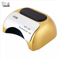 Wholesale infrared red sensor - 48W Nail Dryer LED UV For Nails Manicure High Automatic Slide Type LED Nail Art Lamp Infrared Sensor Timer Set Home Use