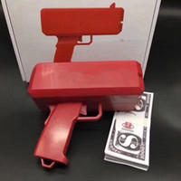 Wholesale Red Toy Gun - Toys Cash Cannon Money Gun SS17 Fashion Make It Rain Money Gun Red Christmas Gift Toy Not Include Battery