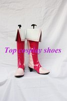 Wholesale Boots Smile - Wholesale-Freeshipping anime Smile Precure! Pretty Cure Cosplay Boots shoes Custom made for Halloween Christmas