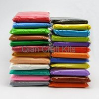 Wholesale mixed modeling - 700gram large Super Light Weight Modeling Air Dry Clay Soft Like Squishy After Dry mix color ,you specify color