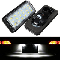 Wholesale Toyota Led License Plate Lights - 2pcs 18 LED SMD Error Free Number License Plate Light Bulbs Car Light Fit For Lexus LX470 LX570 Toyota J100 120 Land Cruiser