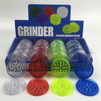 plastik tabakalar toptan satış-Plastik değirmeni 60mm sigara için 3 katmanlı ot değirmeni 4 renkler plastik dişler fit renkli değirmenleri hızlı kargo