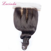 Wholesale side parting brazilian hair closure - Free Part Bleached Knot Silk Base Closure Loose Wave 7A Unprocessed Human Virgin Malaysian Hair Silk Base Lace Frontal Closures