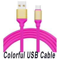 Charge rapide Micro USB Câbles de chargeur de téléphone 1.3M 2A Colorful Data Sync Cords pour Samsung Android Mobile Phones