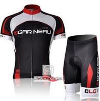 Wholesale Garneau Cycling - Free shipping+topPolyester +Pad Coolmax+2011 LG GARNEAU short Sleeve Cycling Jerseys and Pants Set Cycling Wear Cycling Clothing