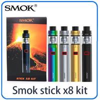 Wholesale X8 Atomizers - New SMOK Stick X8 Kit 3000mAh Battery 4ML Top Fill Airflow Control Smoktech TFV8 X Baby Tank Atomizer Starter Kits Vape pen