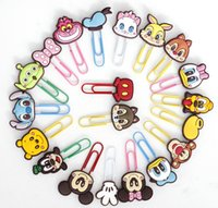 Wholesale Cute Shaped Paper Clips - Cartoon Face Shape Paper Clip Multi Fuction ABS Handmake Craft Papper Clip Cute Chindren Book Holder