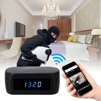 Wholesale Motion Activated Spy Camera Clock - 1080P HD Wifi Network Z16 Spy Camera Alarm Clock Motion Activated Security DVR Night Vision IR APP Remote view Home securiity monitor