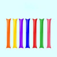 надувная палочка для аплодисментов оптовых-Новый Красочный Клуб Заправки Клаппер Баллон Пляж Надувные Палочки Черлидинг Спортивные Игры Аплодисменты Палка Аплодисменты Надувные Палки