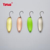 Wholesale Wholesale Spoon Fishing Lure - YAPADA Spoon 013 Loong Claw 5g 45mm BKK HOOK Multicolor 6piece lot Metal Spoon Fishing Lures Stream small fish