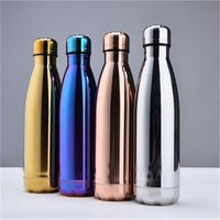 Wholesale Hot Cold Water Color - new Vacuum Insulated Water Bottle 500ml Leak Proof Double Walled Stainless Steel Bottle Cola Travel Bottle Keeps Your Drink Hot & Cold