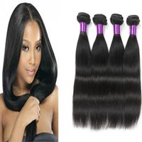 Wholesale Ali Queen - 4 Bundles Peruvian Hair Straight Ali Queen Hair Products 8A Puruvian Brazilian Malaysian Indian Mongolian Human Hair Weaves