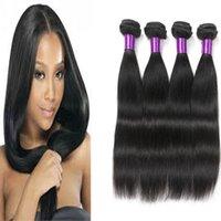 Wholesale Ali Queen - 4 Bundles Peruvian Hair Straight Ali Queen Hair Products 8A Puruvian Brazilian Malaysian Indian Mongolian Human Hair Weaves