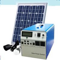 Wholesale Solar Portable Generator System - 300W Solar Power System Small Solar Generator Home Solar Power Equipment Solar Power System DHL Free Shipping Model SCO_SP8065