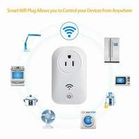 Wholesale Switch For Socket - Wifi Smart Plug Outlet Wifi Plug Switch Timer Socket Remote Control by Smartphone for Home Automation No Hub Required