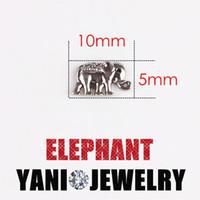 Wholesale Elephant Locket Pendant - Silver Plated Animal Charms Pendants Animal Elephant Floating Locket Charms for Bracelet DIY Glass Locket Necklaces