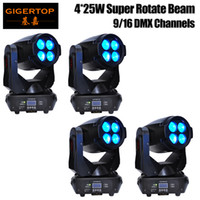 Wholesale Moving Led Wash - Wholesales Price 4 Units 4pcs*25W (100W)LED Super Beam+Wash Moving Head Light,LED Gobo Moving Head Beam Effect Disco Club Bar TIPTOP