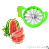 Wholesale function fruit slicer for sale - Group buy Stainless Steel Blade Slicer Thickening Plastic Handle Watermelon Cutter Multi Function Fruit Knife Kitchen Tool Easy To Clean rr R