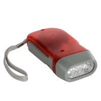 ultrafire cree e17 xml t6 taschenlampe großhandel-3 LED-Dynamokurbelaufzug-Überlebensnotfalltaschenlampe Handkurbel