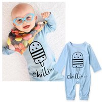 Wholesale Winter Bodysuits For Babies - Newborn Boys Jumpsuits Spring Autumn Popsicles Printed Baby Clothes For Boys Fashion Toddler Cotton Bodysuits Onesies