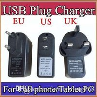 Wholesale tablet a31s resale online - EU US UK Plug Universal USB Charger AC Power Adapter for A33 A31S MTK6572 Tablet PC Cell phone V A C PD
