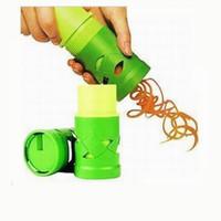 Wholesale Vegetable Spiralizer - Vegetable Cutter Fruit Slicer Spiralizer Easy Garnish Veggie Twister Processing Device Kitchen Gadgets Cooking Tools