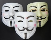 Wholesale Masquerade Masks For Guys - New Arrival V Mask Halloween Mask Masquerade Masks For Vendetta Anonymous Valentine Ball Party Full Face Super Scary Guy Fawkes