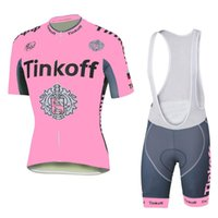 Wholesale Saxo Bank Cycling Jersey Sets - 2015 Tinkoff saxo bank cycling jerseys flag style bike wear size XS-4XL short sleeves cycling jersey set Breathable bib none bib pants