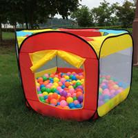 палатки для девочек оптовых-Оптово-Игровой домик в помещении и на открытом воздухе Легко складной Ocean Ball Pool Pit Game Tent Play Hut Girls Сад Playhouse Дети Детская игрушка палатка