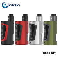 Wholesale Drip Tip Bottles - Authentic geekvape GBOX Squonk Kit e cigarette with 200w GBOX vape Mod Radar RDA Spare Squonk Bottle Delrin Drip Tip GV Allen Key