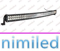 nimi626 50 Zoll 288W CREE LED Arbeits-Licht-Bar Auto-Punkt Flut-Lichtstrahl 4X4 96 * 3W 24500LM MARINE JEEP Boot Curved Off Road Nebel treibende Lichter 12V