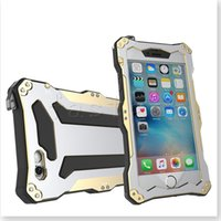Wholesale Double Color Metal Aluminum Case - R-JUST iPhone 6S 6 plus Waterproof Case, Double Color Oxidation Aluminum Metal Case Heavy Duty Protective Carrying Cover fit for iPhone SE 5