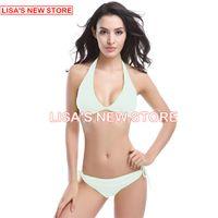 Wholesale Sexiest Women Bikinis - 2016 sexiest Women Bikini bathing suit Summer Swimwear Sexy bikini swimsuit bikini pure color quick-drying bikinis swimsuit A Women Swimwear