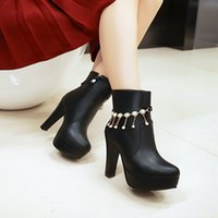 Wholesale Sweden Female - 2018 Sweden new brand star sexy girls' boots, autumn and winter high quality production female boots, big size 34-43