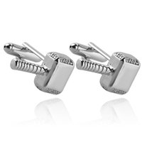Wholesale mens nails - 2018 Quake hammer cufflinks French shirt cuff nail business For Mens or father's Cuff Links zj-0903781